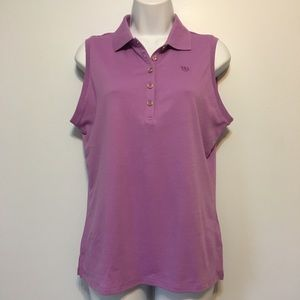 Izod Purple UPF 15 Sun Control Sleeveless Top Sz M